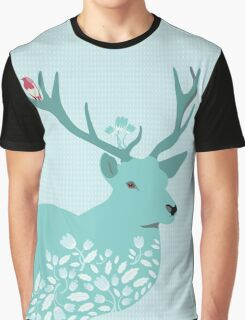 Blue Deer Graphic T-Shirt