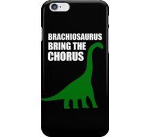 Brachiosaurus, Bring The Chorus (white design) iPhone Case/Skin