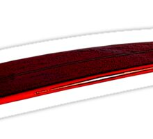 Black and red surfboard Sticker