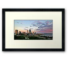 sunset perth Framed Print