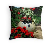 .....by the steps Throw Pillow