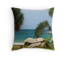 Awesome Beach of Indonesia Throw Pillow