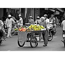 Fruit cart in Ho Chi Minh City Photographic Print