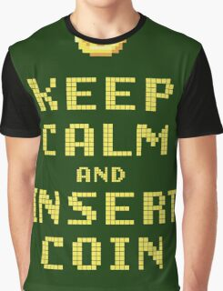 Keep Calm And Insert Coin Graphic T-Shirt