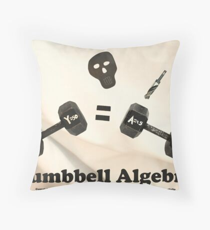 Dumbbell Algebra  Throw Pillow