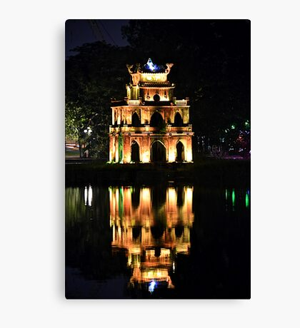 Hoan Kiem Lake reflection Canvas Print