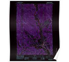 USGS Topo Map Washington State WA Castle Rock 240388 1984 24000 Inverted Poster