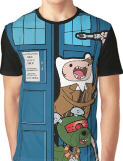 Adventure Time Lord Generation 10 - TARDIS Graphic T-Shirt
