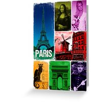 le Paris postcard Greeting Card