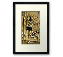 Aerial Hoop and Trapeze Workshop Framed Print