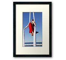 Trapeze Beach Camp Framed Print