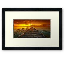 Frankston Pier - Orange Framed Print