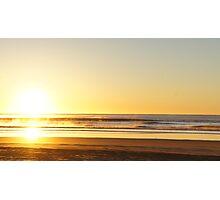 Trapeze Beach Camp Sunrise Photographic Print