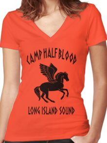 Camp Half Blood Long Island Sound Women's Fitted V-Neck T-Shirt