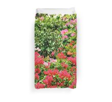 Lovely Red Blossoms Duvet Cover