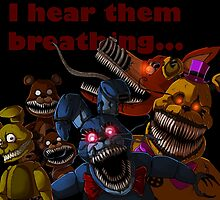 FNAF 4 Nightmare Animatronics by ladyfiszi