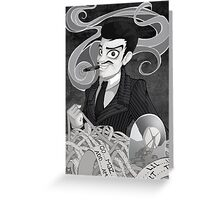 Gomez Addams- Black and White version Greeting Card