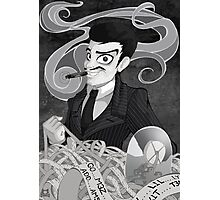 Gomez Addams- Black and White version Photographic Print
