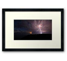 Thunderstorm Christmas Eve 2011  Framed Print