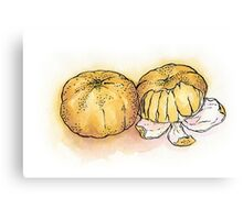 Peeled clementines Canvas Print