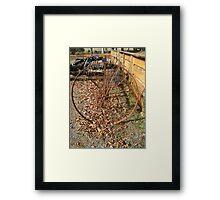 Farm Hay Rake Framed Print