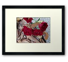 Roses for Christmas Framed Print