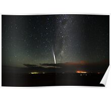 Comet Lovejoy over Mannum Poster