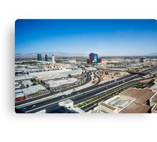 Las Vegas Cityscape as seen from the top of the Stratosphere Tower Canvas Print