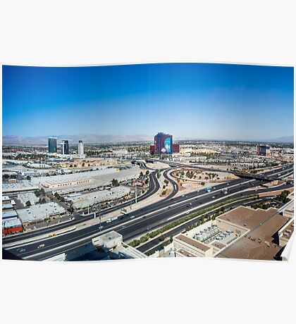 Las Vegas Cityscape as seen from the top of the Stratosphere Tower Poster