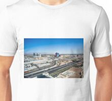 Las Vegas Cityscape as seen from the top of the Stratosphere Tower Unisex T-Shirt
