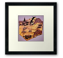 Tank Battle Framed Print