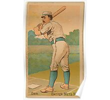 Benjamin K Edwards Collection Dave Orr New York Metropolitans baseball card portrait Poster