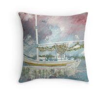 Sponge Boat Throw Pillow