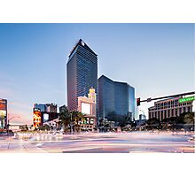 The Strip, Las Vegas, Nevada, USA at dusk Photographic Print
