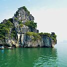 Still waters in Ha Long Bay by Carl LaCasse
