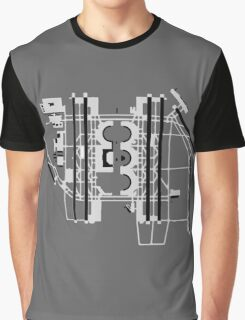 Dallas/Fort Worth Airport Diagram Graphic T-Shirt