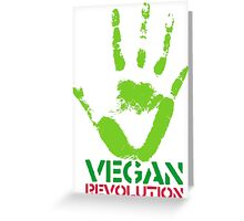Vegan revolution Greeting Card