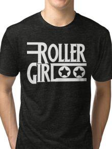 Roller Derby Girl Tri-blend T-Shirt