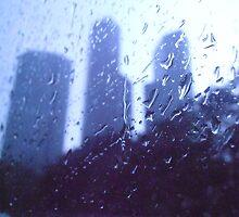 drops on the window by kunalchelani
