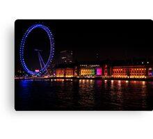 London Eye at night Canvas Print