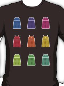 Rainbow Android Daleks T-Shirt