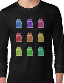 Rainbow Android Daleks Long Sleeve T-Shirt