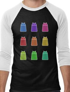 Rainbow Android Daleks Men's Baseball ¾ T-Shirt