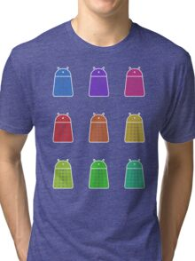 Rainbow Android Daleks Tri-blend T-Shirt