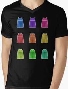 Rainbow Android Daleks Mens V-Neck T-Shirt