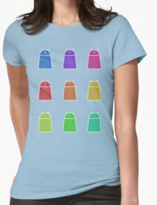 Rainbow Android Daleks Womens Fitted T-Shirt