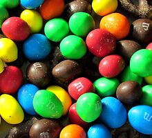 Chocolate dusted M&Ms by Alberto  DeJesus