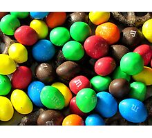 Chocolate dusted M&Ms Photographic Print