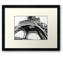 Eiffel Tower Undershot  Framed Print