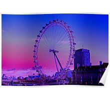 London Eye and River view Poster